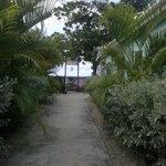 Gate onto the beach