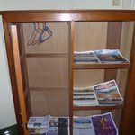The wardrobe with 6 month old newspapers