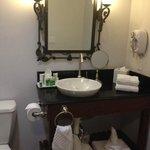 Well-stocked bathroom