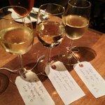 Classic Whites wine flight