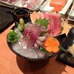 sashimi with Toro