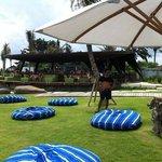 nice beach cafe and pool