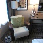 1 chair inside room