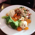 Sirloin with Garlic Herb Shrimp