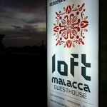 Sunset view from the sign board of Loft Malacca
