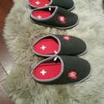 In room slippers  special made in Switzerland.