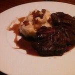 hangar steak on pancetta mashed potatoes-yum!