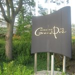 Entrance to Domaine de Grande Pre, Nova Scotia
