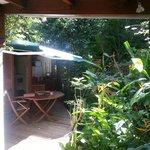 Terrasse bungalow thunbergia
