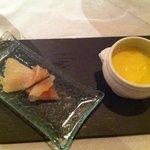 smoked fish with celeriac veloute
