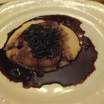 Foie gras on polenta with incredible sauce - you hadda be there!