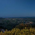 Vista della valle da Cortona.