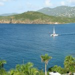 View of nearby islands and St Thomas mountains