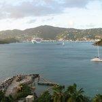 Harbor and town view from Rum Bar veranda