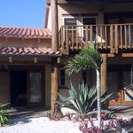 external view of villa - master bedroom balcony and lower bedroom patios