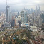 Great view of Tomorrow Square and Pudong from my room