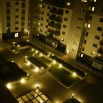 Courtyard view at night