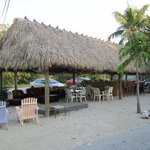 Tiki Hut with live music on the weekends and drinks at the cash bar