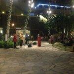 Native Dance in Courtyard Adjacent to Hotel