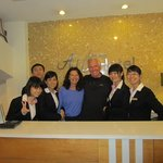 The Wonderful Reception Crew Running the Art Hotel