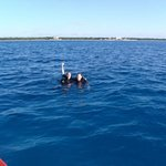 My husband and I right after the dive!!
