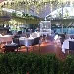 al fresco restaurant at the pool