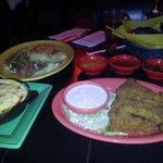 a lot of food at the Thunder Road Cantina!