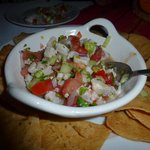 Ceviche made with fresh caught Dorado