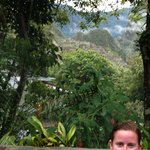 View of Machu Picchu from the hot tub