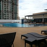 The rooftop swimming pool is located at level 7.
