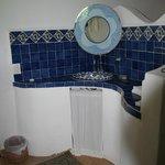 Bathroom sink at Pajaro Azul