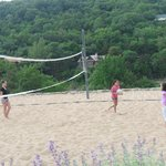 volleyball near lake