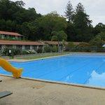 Haruru Falls Resort Pool area