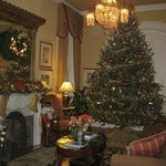 Parlor at Christmas time