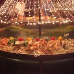 Christmas Eve fish buffet, lobster, crab, prawns - amazinf