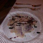 antipasto di carpaccio con aceto balsamico