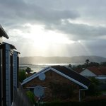 Setting sun over the Knysna Lagoon