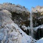 Kegon Falls, Nikko, in winter