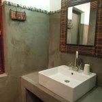 The bathroom wash basin