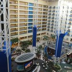 View of atrium from our room