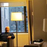 Robert Boyer relaxing in our room at The Westin.