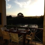Sunset from the balcony at Rosendal restaurant