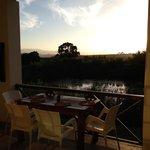 Sunset from the balcony at Rosendal restaurant