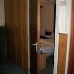 Hotel room, door opens outwards??