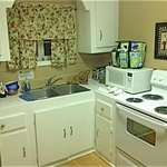 Full kitchen...appliances look new.