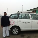 Our Ride to Agra with driver Sher Singh provided by Taj