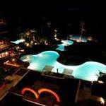 Shasa pools at midnight