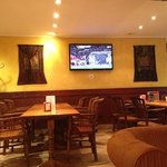 one of 3 tv's in the bar area