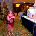 Beautifully decorated lobby with Magnificent Candy Houses by the Chef.