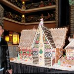 One of the many beautiful candy houses(by the chef) on display.